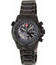 Swiss Precimax Men's Squadron Pro SP13076 Black Stainless-Steel Swiss Chronograph Watch