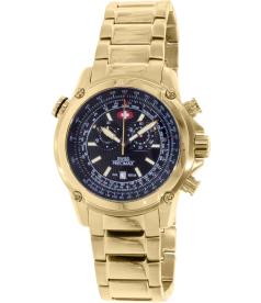 Swiss Precimax Men's Squadron Pro SP13077 Black Stainless-Steel Swiss Chronograph Watch