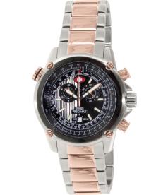 Swiss Precimax Men's Squadron Pro SP13080 Black Stainless-Steel Swiss Chronograph Watch
