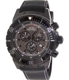 Swiss Precimax Men's Pursuit Pro Sport SP13282 Grey Silicone Swiss Chronograph Watch
