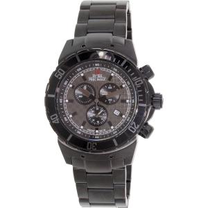 Swiss Precimax Men's Pursuit Pro SP13295 Black Stainless-Steel Swiss Chronograph Watch