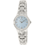 Bulova Women's Diamond 96R172 Silver Stainless-Steel Quartz Watch