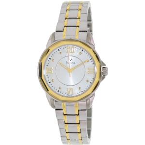 Bulova Women's Dress 98L166 Silver Stainless-Steel Quartz Watch