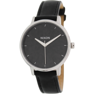 Nixon Women's Kensington A108000 Black Leather Quartz Watch