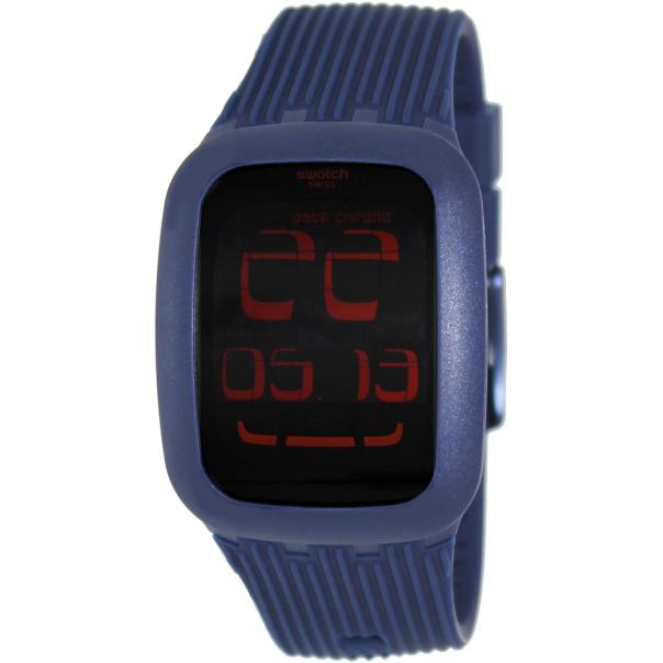 swatch s digital surn101 blue rubber swiss quartz