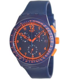 Swatch Men's Originals SUSN401 Blue Silicone Swiss Quartz Watch