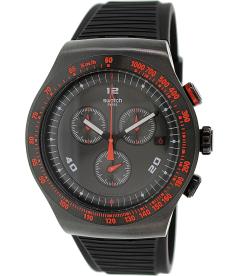 Swatch Men's Irony YOB401 Black Rubber Swiss Quartz Watch