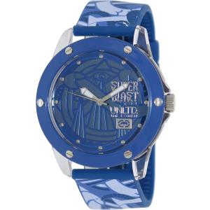 Marc Ecko Men's The Tran E09530G8 Blue Silicone Quartz Watch