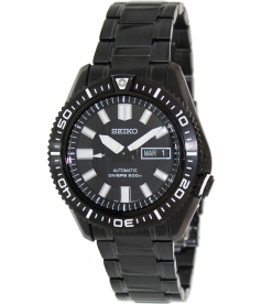 Seiko Men's Automatic Diver SKZ329K Black Stainless-Steel Automatic Watch