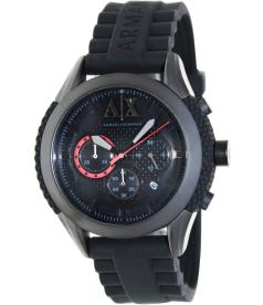 Armani Exchange Men's AX1212 Black Silicone Quartz Watch