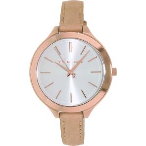 Michael Kors Women's Runway MK2284 Rose Gold Leather Quartz Watch