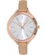 Michael Kors Women's Runway MK2284 Rose Gold Leather Quartz Watch - Main Image Swatch