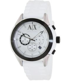 Armani Exchange Men's AX1225 White Silicone Quartz Watch