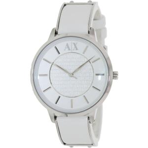 Armani Exchange Women's AX5300 White Leather Analog Quartz Watch