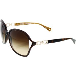 Coach Women's Gradient  HC8018-503513-60 Brown Rectangle Sunglasses
