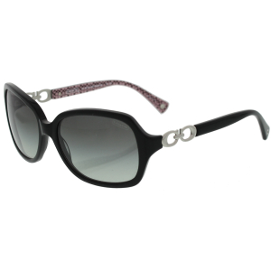 Coach Women's Gradient  HC8019-503411-58 Black Butterfly Sunglasses