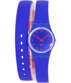 Swatch Women's Originals LS115 Blue Rubber Swiss Quartz Watch