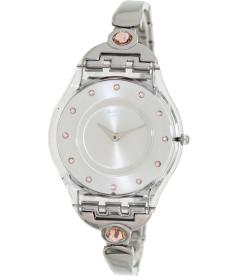 Swatch Women's Skin SFK376G Beige Stainless-Steel Analog Quartz Watch