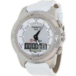 Tissot Women's T-Touch Ii T047.220.46.086.00 White Leather Swiss Quartz Watch
