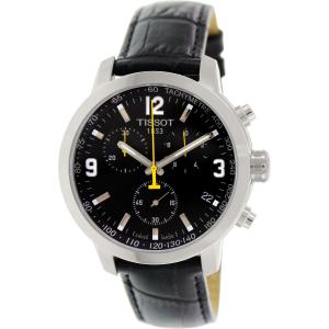 Tissot Men's Prc 200 T055.417.16.057.00 Black Leather Swiss Chronograph Watch