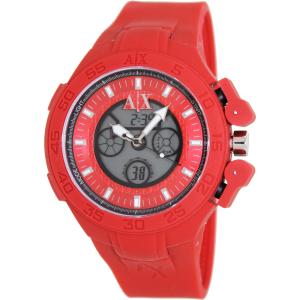 Armani Exchange Men's AX1281 Red Silicone Quartz Watch