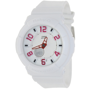 Casio Women's Baby-G BGA133-7B White Resin Quartz Watch