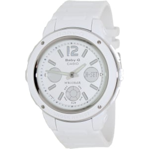 Casio Women's Baby-G BGA150-7B White Resin Quartz Watch