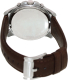 Fossil Men's Grant FS4813 Brown Leather Leather Quartz Watch - Back Image Swatch