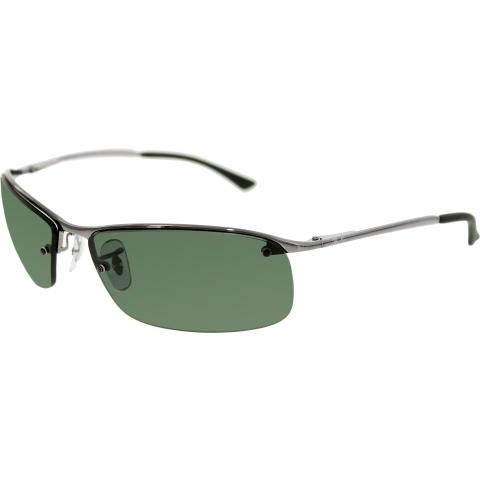 Ray-Ban Men's Polarized RB3183 RB3183-004/71-63 Silver Semi-Rimless Sunglasses