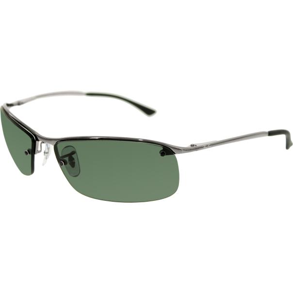 Ray-Ban Mens RB3183-004/71-63 Silver Semi-Rimless Sunglasses