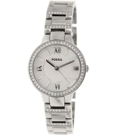 Fossil Women's Virginia ES3282 Silver Stainless-Steel Quartz Watch