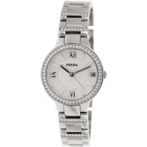 Fossil Women's Virginia ES3282 Silver Stainless-Steel Quartz Watch