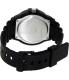 Casio Men's MRW200H-2BV Black Plastic Quartz Watch - Back Image Swatch