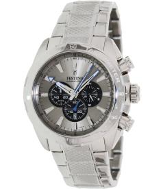 Festina Men's Crono F16488/7 Silver Stainless-Steel Analog Quartz Watch
