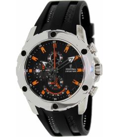 Festina Men's Crono F16526/5 Black Rubber Analog Quartz Watch