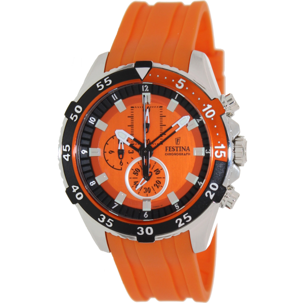 Festina Men's La Vuelta F16604/3 Orange Rubber Analog Quartz Watch