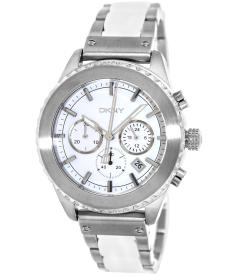 Dkny Men's Chronograph NY8764 White Stainless-Steel Quartz Watch