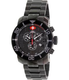 Swiss Precimax Men's Verto Pro SP13033 Black Stainless-Steel Swiss Chronograph Watch