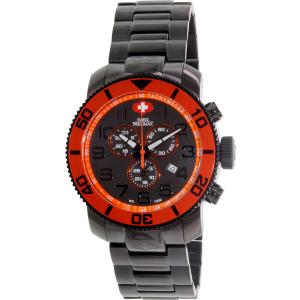 Swiss Precimax Men's Verto Pro SP13034 Black Stainless-Steel Swiss Chronograph Watch
