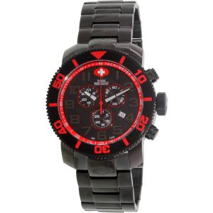 Swiss Precimax Men's Verto Pro SP13035 Black Stainless-Steel Swiss Chronograph Watch