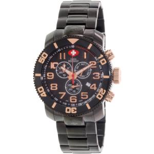 Swiss Precimax Men's Verto Pro SP13043 Black Stainless-Steel Swiss Chronograph Watch