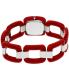 Nixon Women's Sisi A248200 Red Plastic Quartz Watch - Back Image Swatch