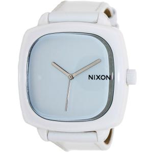 Nixon Men's Shutter A262100 White Leather Quartz Watch