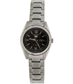 Seiko Women's 5 Automatic SYMK25K Black Stainless-Steel Automatic Watch