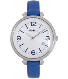 Fossil Women's Heather ES3279 Silver Leather Swiss Quartz Watch