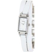 Fossil Women's Delaney JR1442 Silver Leather Quartz Watch