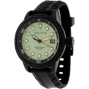 Nautica Men's Nmx601 N17618G Black Silicone Quartz Watch