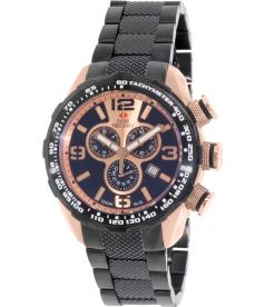 Swiss Precimax Men's Deep Blue Pro III SP13133 Rose-Gold Stainless-Steel Swiss Chronograph Watch