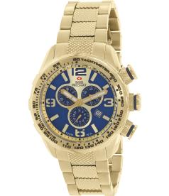 Swiss Precimax Men's Deep Blue Pro III SP13135 Blue Stainless-Steel Swiss Chronograph Watch