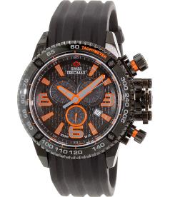 Swiss Precimax Men's Forge Pro Sport SP13237 Black Silicone Swiss Chronograph Watch